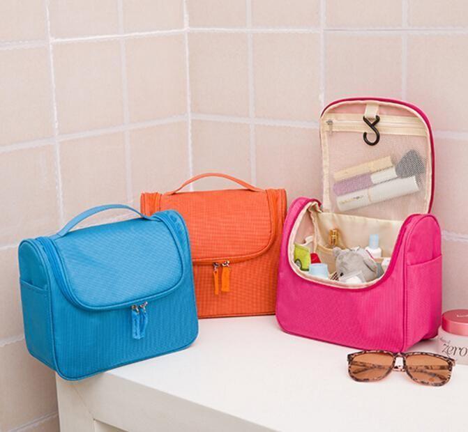 3bf82404a ... impermeable bolsas de cosméticos de Nylon maletín de maquillaje bolsa  de maquillaje de viaje organizador bolsa mujeres vanidad colgando baño  neceser
