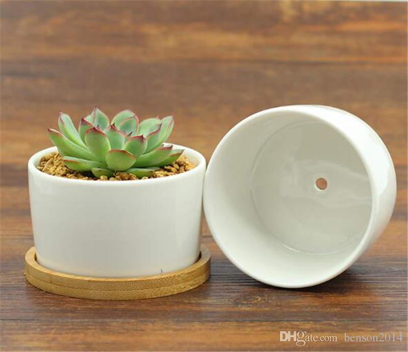 ceramic bonsai pots wholesale mini white porcelain flowerpots suppliers for seeding succulent indoor home Nursery planters