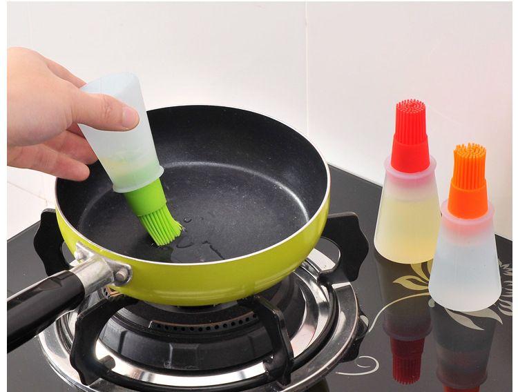 Cucina barbecue bottiglia di olio Pennello torta di Silicone burro pane pasticceria pennello cottura Pancake imbastitura strumento Colori Misti