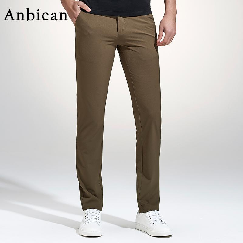 0efc17ee902 2019 Wholesale Anbican Fashion Khaki Casual Pants Men 2017 Spring Brand New  Leisure Business Slim Trousers Mens Cotton Work Chinos Dress Pants From  Masue