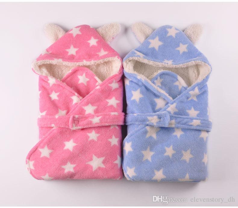 Neugeborene Babymusterdeckenjungen / Mädchenfrühlingsherbst-Fallkinder Kleinkind-Butikenmodekleidungsrosa graues blaues kakifarbiges, R1AS710-05-75