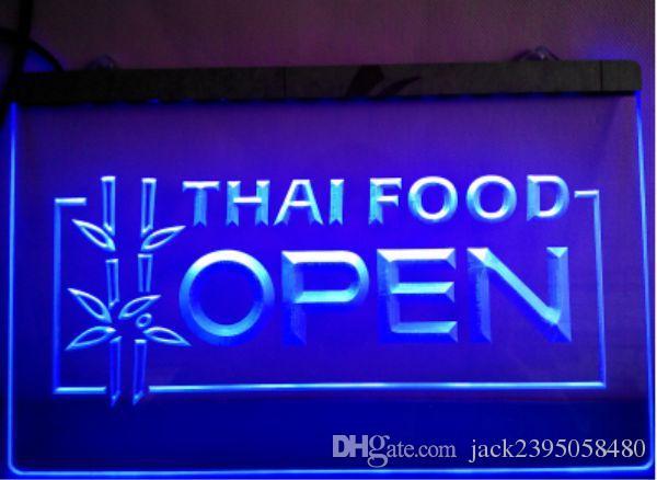Thai Food Open Cafe Restaurant Led Neon Light Sign Home Decor Crafts