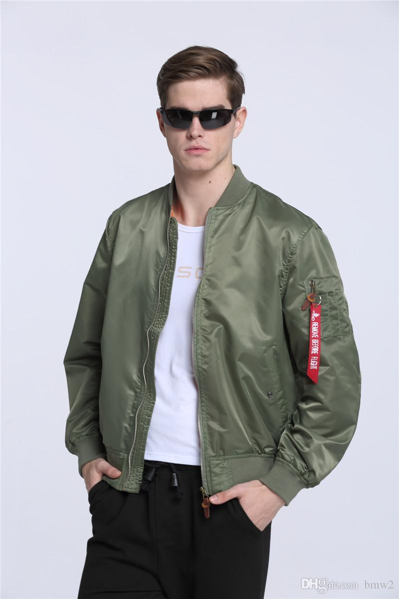 search for best latest style most fashionable 2017 New Ma-1 flight bomber jacket for men military olive green army  Windbreak air force flying cheap plain pilot korean jacket