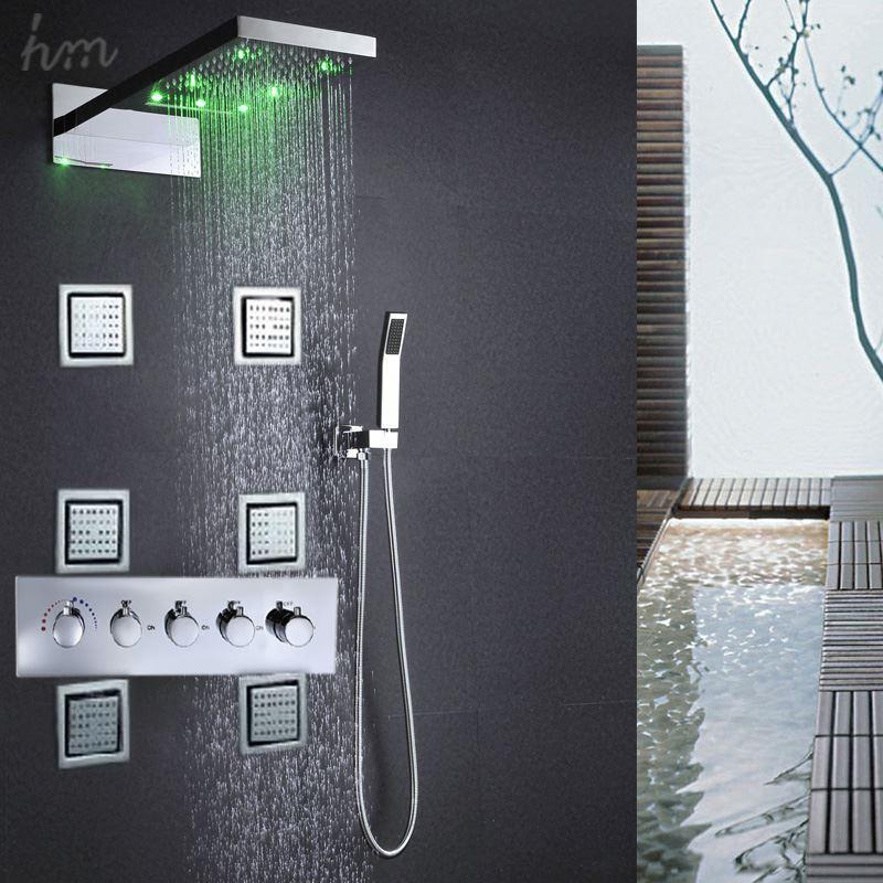 Großhandel Zeitgenössische Decke Regen SPA Badezimmer Kit Zubehör ...