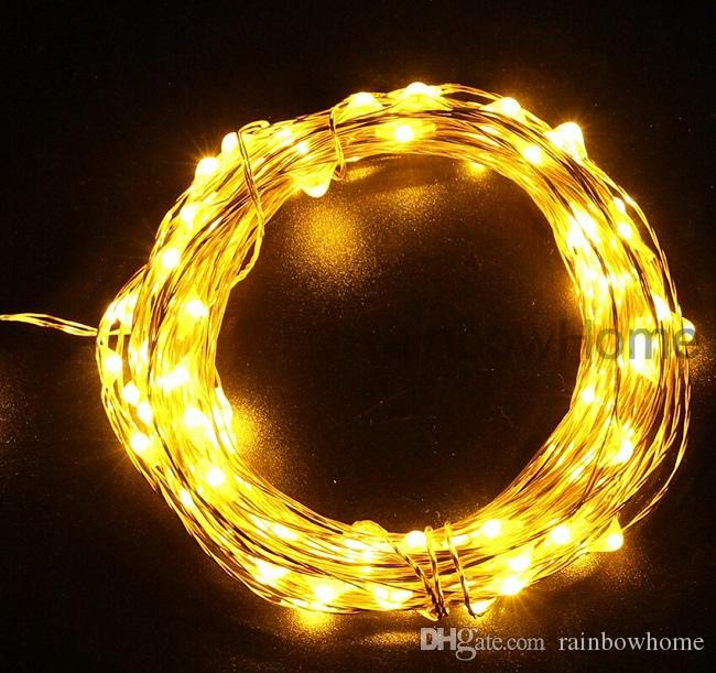 DC 12V Plug LED Copper Silver Wire String Fairy Lights 10M 20M for Xmas Home Party Wedding Waterpfoof Decor USB 5V Power Bank