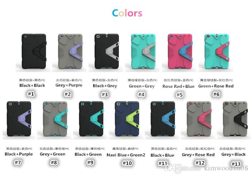 Defender Armor Case With Sticker Colorful Shock Proof Case For iPad Mini 123 ipad 234 DHL