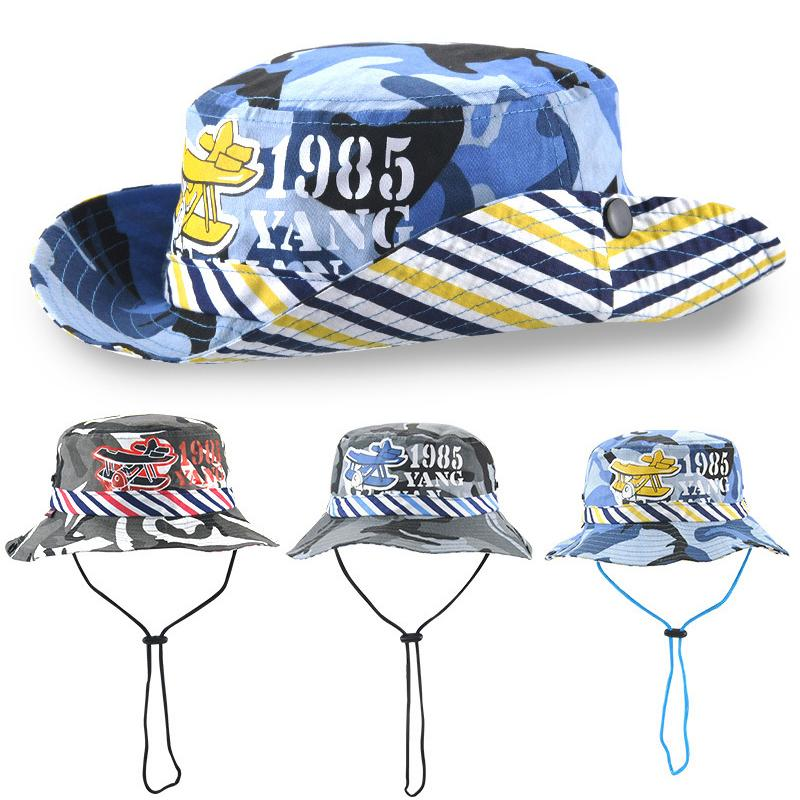 6444fae9 Kids Bucket Hats Children Sunhat Summer Camouflage Topee Baby Visor ...
