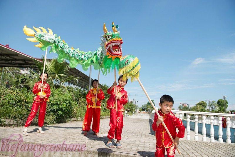10f2a4fbe 3.1 M Children Size CHINESE DRAGON DANCE SilkFolk Festival Celebration  Costume 4 Children To Play Mascot Dalmatian Mascot Costume Zebra Mascot  Costume From ...