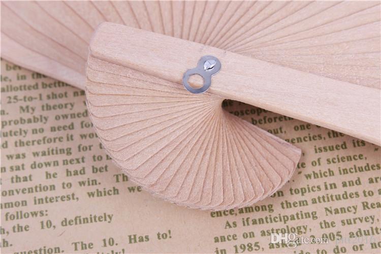 Fans de mariage chinois Fans de bois chinois Accessoires de mariée faits à la main 8 '' Fancy Cheap Wedding Favors Petits cadeaux pour invités