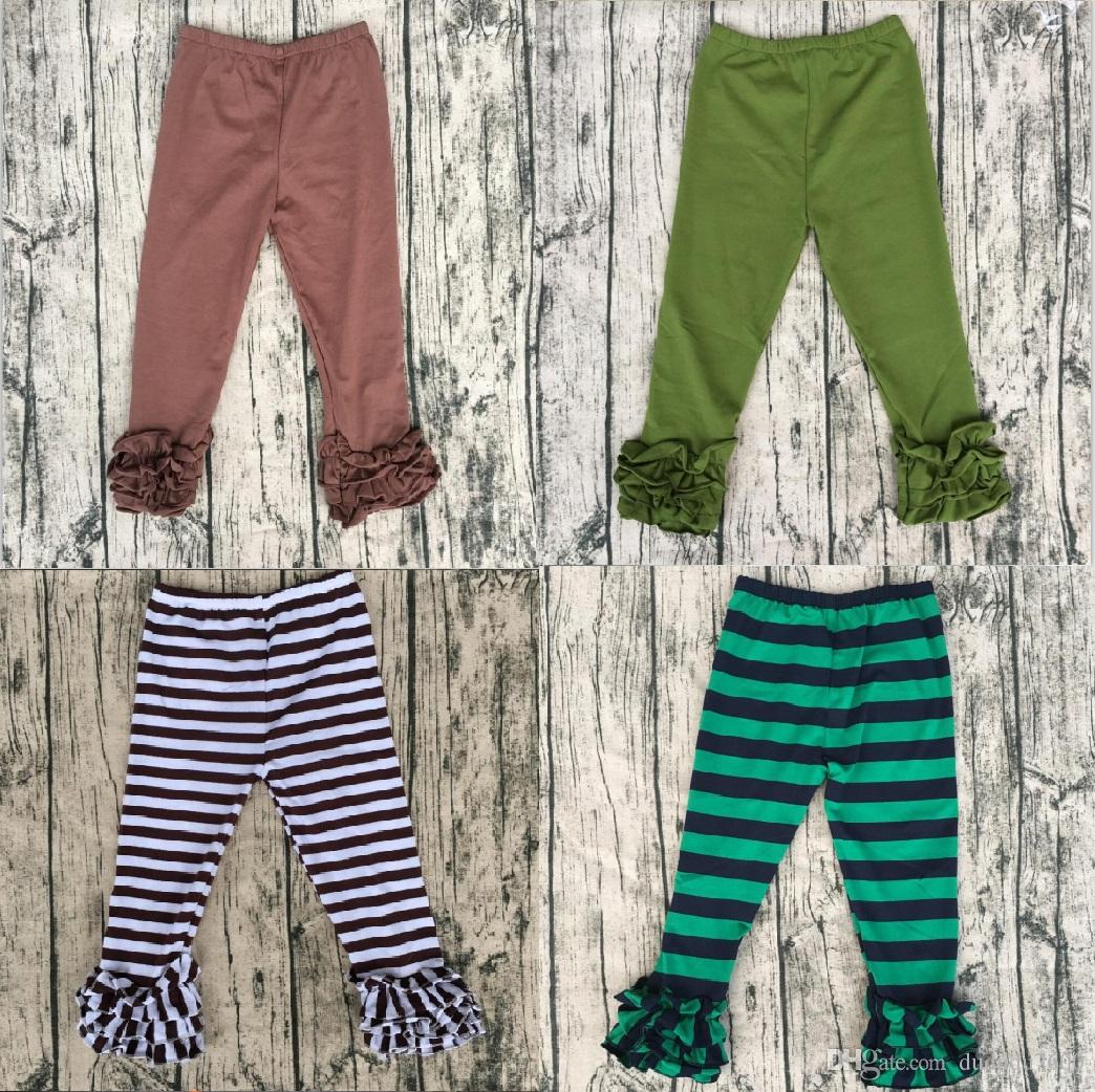 Baby Fashion Clothes Online Hot Sale High Quality Baby Ruffle Pants Organic Cotton Baby Leggings Icing Ruffle Pants