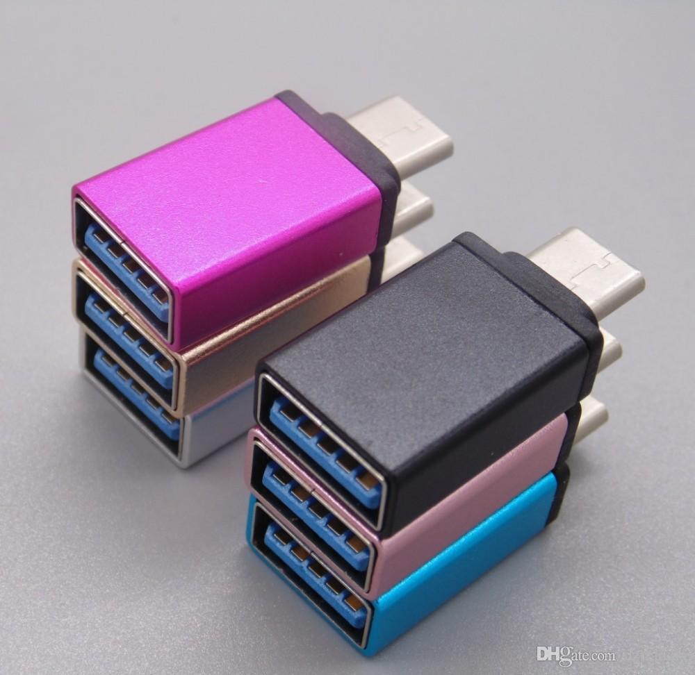Macbook 12inch için / * Metal USB-C C Tipi Erkek için USB 3.0 Kadın İçin Xiaomi 4c C Tipi Dönüştürücü Adaptör OTG İşlevi