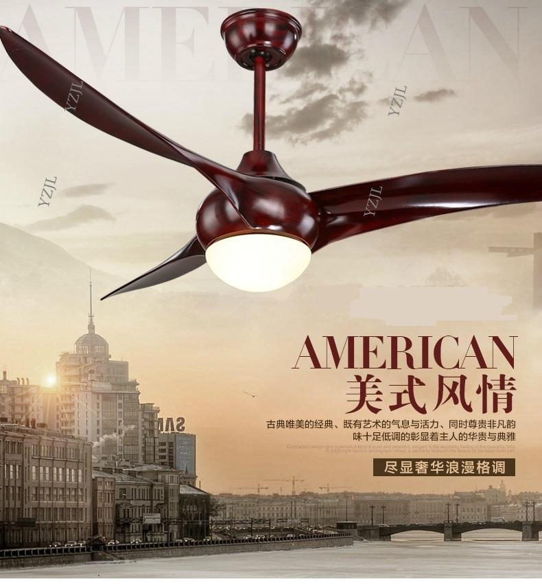 American chandelier fan with remote control ceiling chandelier fan minimalism modern LED ceiling chandelier fan light 52inch