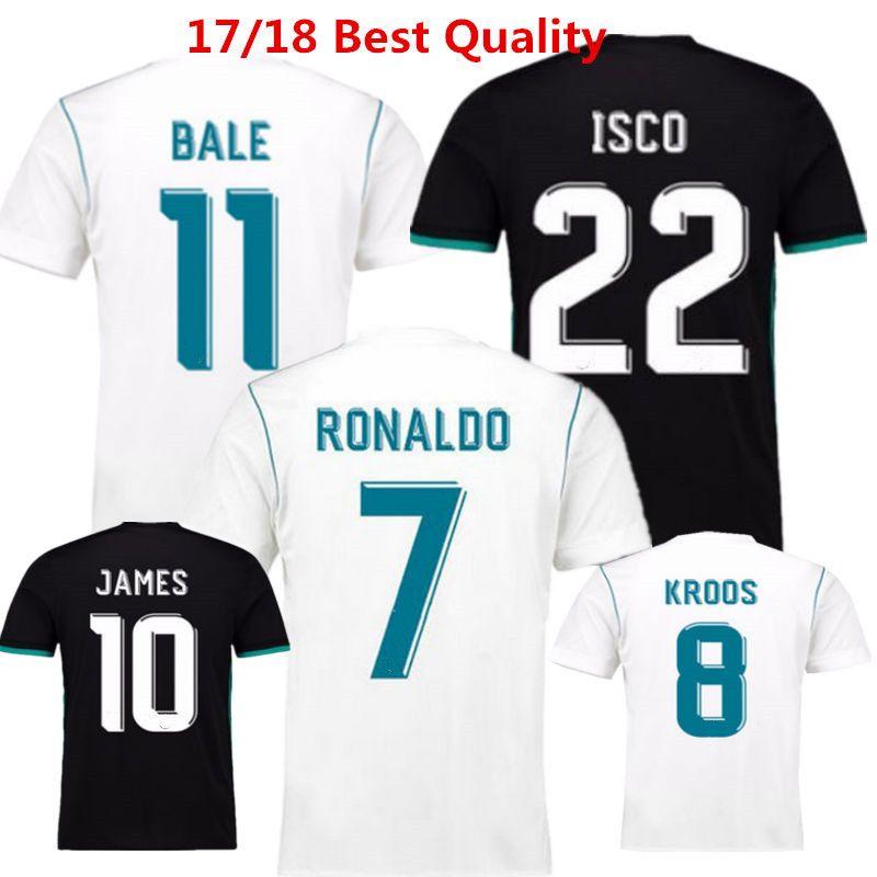 4718e568e91 Soccer Jerseys Madrides Football Shirts 2017 2018 Benzema Ronaldo ...