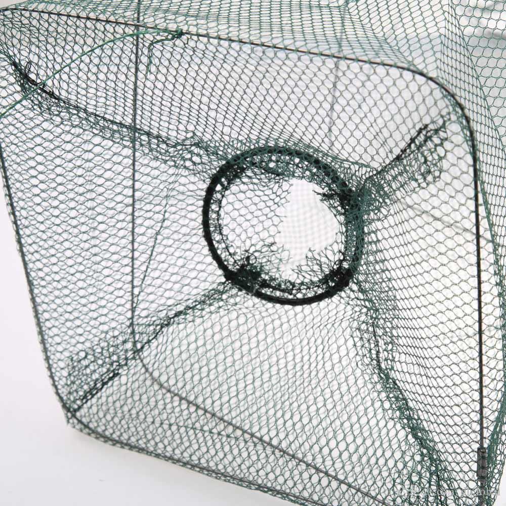 Crab Foldable Fish Net Crawdad Shrimp Minnow Bait Trap Cast Dip Nylon Fishing Net Cage