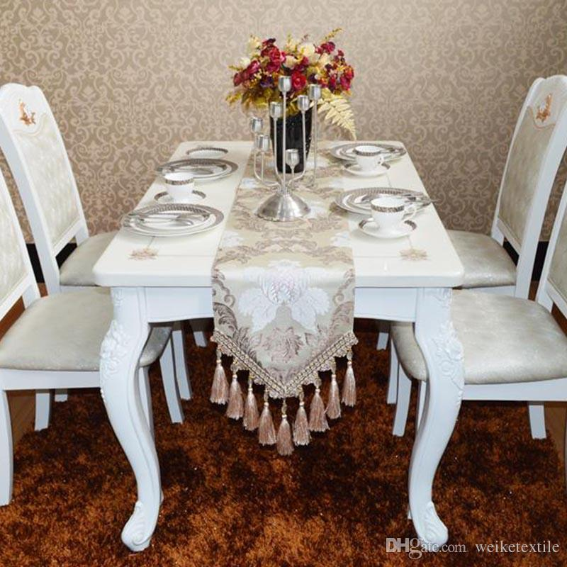 European style luxury table flagmodern fashion table clothsilver european style luxury table flagmodern fashion table clothsilver tassel coffee clothit can be customized table linens cheap table linens for less from junglespirit Images