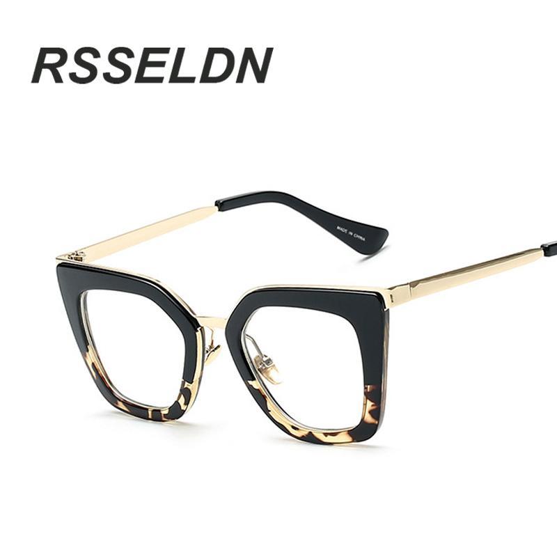 834da97cd61 Wholesale- RSSELDN 2017 Gafas Cat Eye Women Eyeglasses Clear Lens Spectacle  Frame Fashion Female Sun Glasses Optical Eyewear Glasses Dimensions Glasses  Belt ...