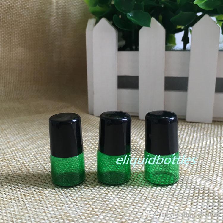 72b8ab7874e1 3000pcs 1ML Essential Oil Glass Roller Bottles Mini Tiny Refillable Empty  Aromatherapy Perfume Liquid Green Glass Roll On Bottles 1CC