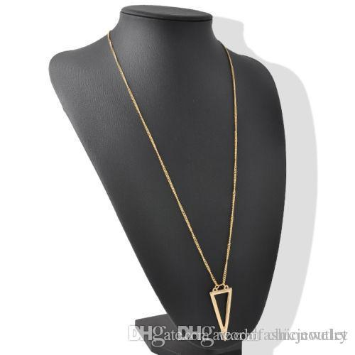 New Pendant Necklaces Punk Style Fashion Women Hallow Out Triangle ... 2cf13fb2f6d6