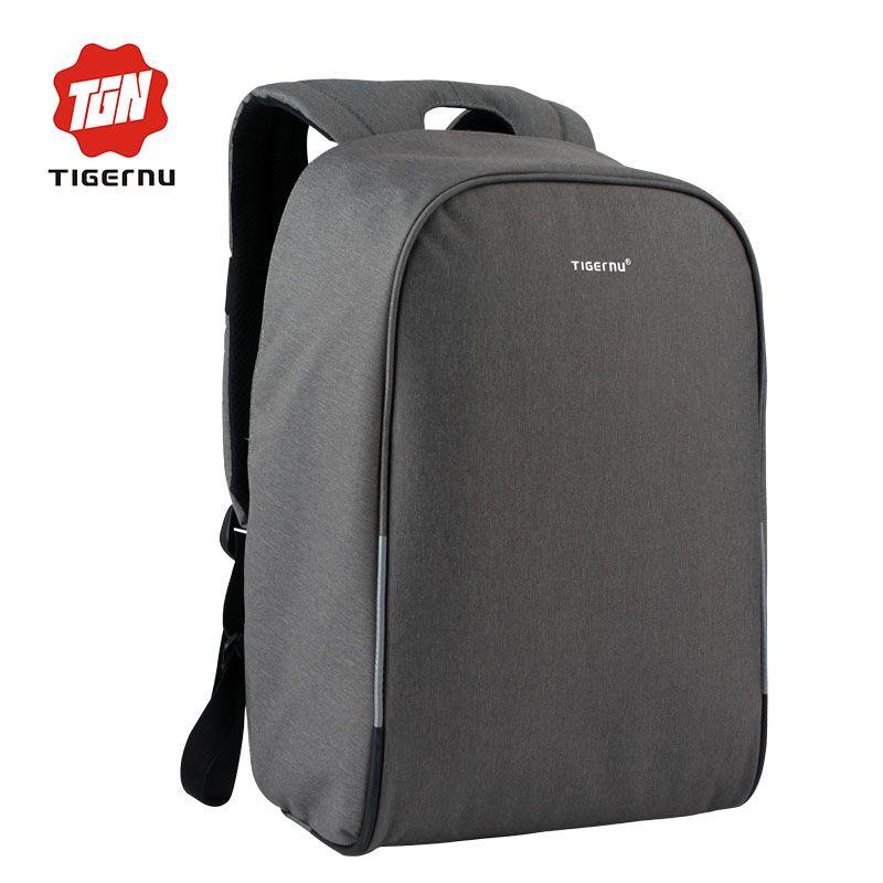 08ef32ea3a3 Wholesale- 2017 Tigernu Brand Anti-theft design USB Charging Backpack Men  Women Backpack school bag 14 - 15.6 Laptop bag Backpack