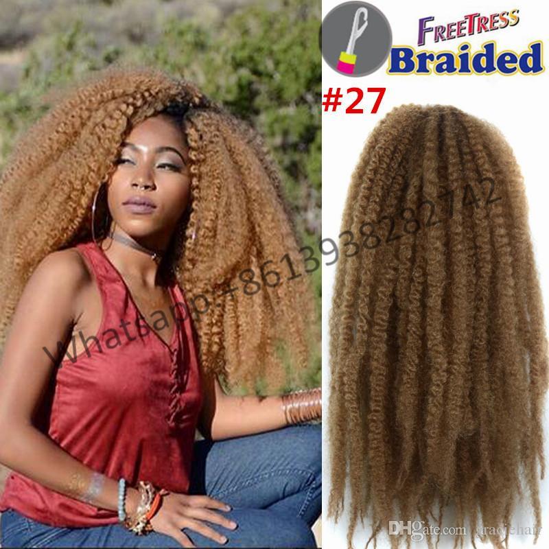 18inch 100g Synthetic Braiding Hair Kinky Marley Braid Twists Crochet Braids Twist In Bulk Buy