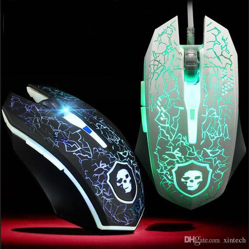 2018 New Design Usb Gaming Mouse Wired Lol Breathing Lights Optical ...