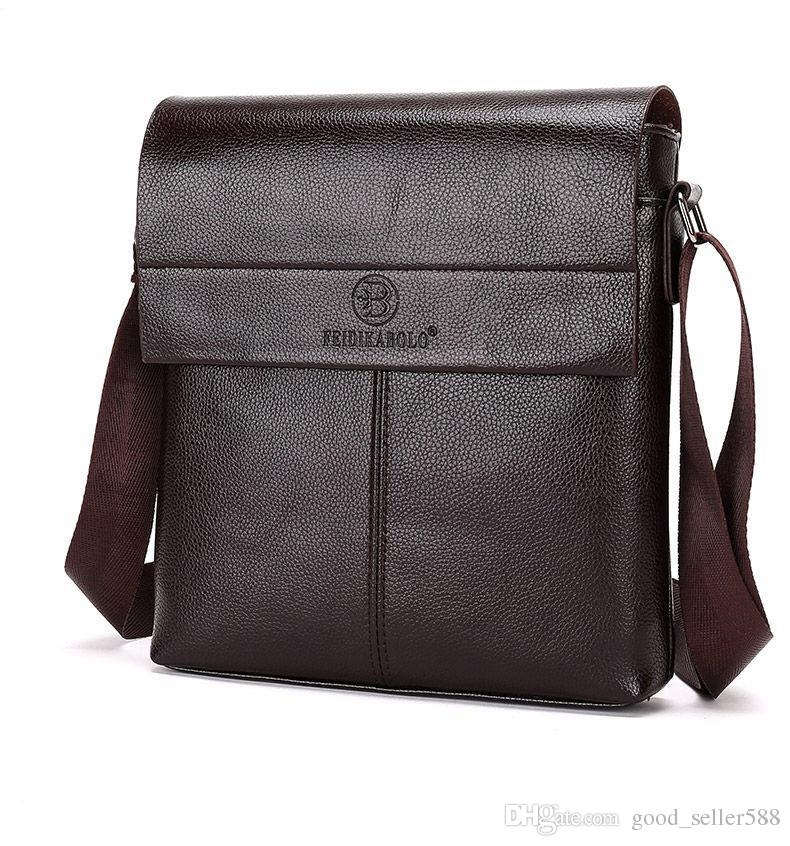 Men'S Vertical Pu Leather Bags Men Messenger Bag Mens Business ...