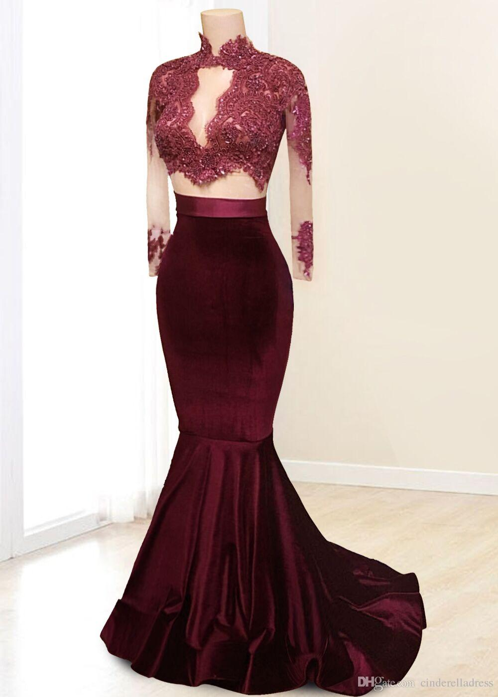 Lace mermaid dress with sleeves