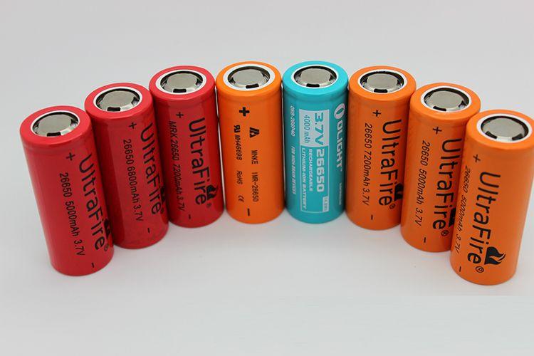Ultrafire 26650 5000mAh 7200mAh Lithium-Lithium-Ionen-Akku für elektronische LED-Kamera Taschenlampe Akku Taschenlampe für elektronisches Fahrrad