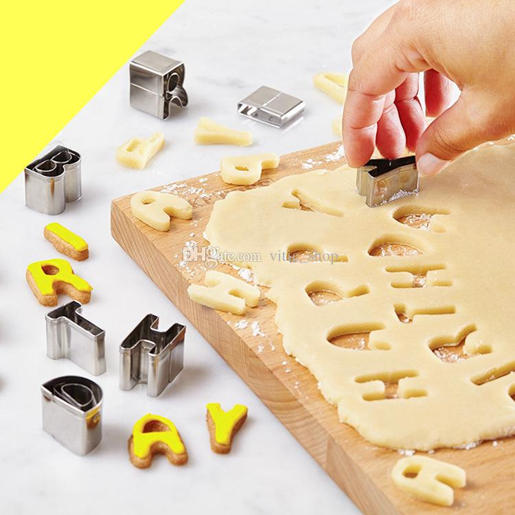 Kuchenwerkzeuge 26 stück Cookie Cutters Set Mini Cutter Shapes Form für Muffins Kekse Gebäckdekoration DIY Backen Fondant 122150