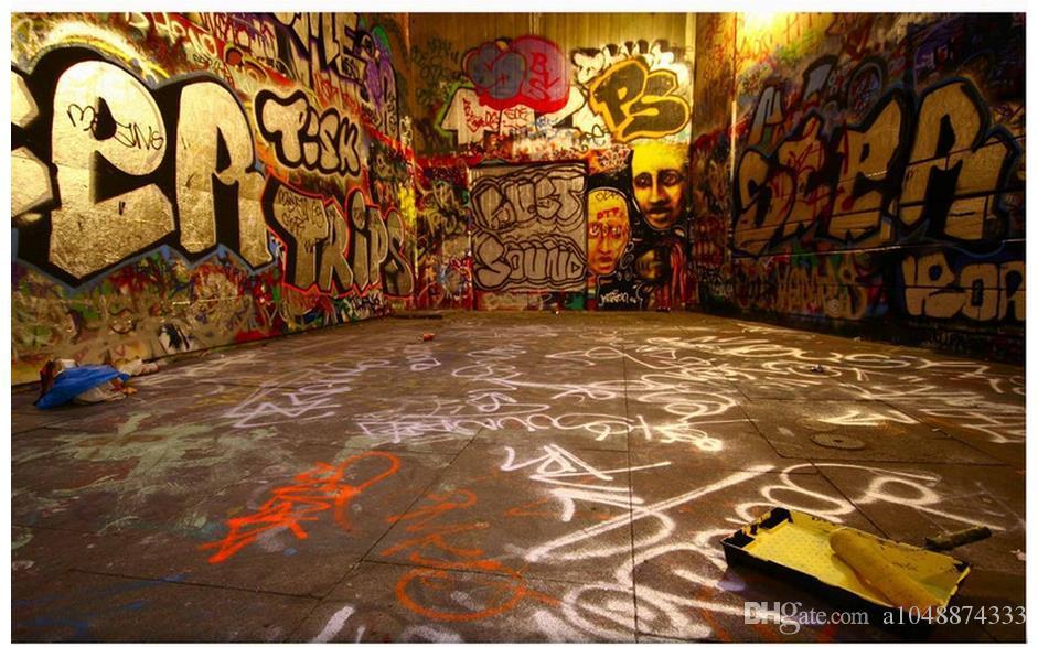 High End Custom 3d Photo Wallpaper Murals Wall Paper Retro Graffiti