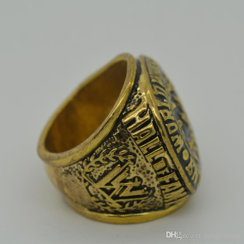 New Fashion Vintage Gold Plated Retro 2004 wrestling replication Hall of fame championship ring Champion Statement Men Jewelry Gifts Size 11