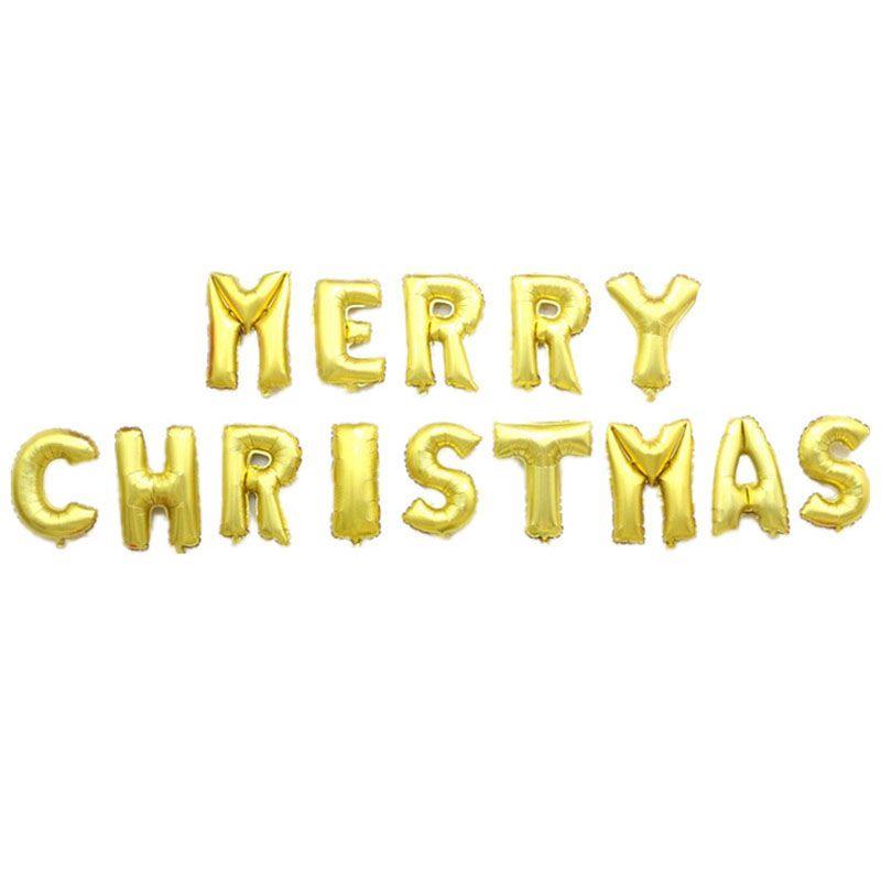 Frohe Weihnachten Gold.Frohe Weihnachten Ballons 16inch Gold Rose Buchstaben Alphabet Dekoration Folie Ballons Helium Partei Liefert Freies Verschiffen Za4148
