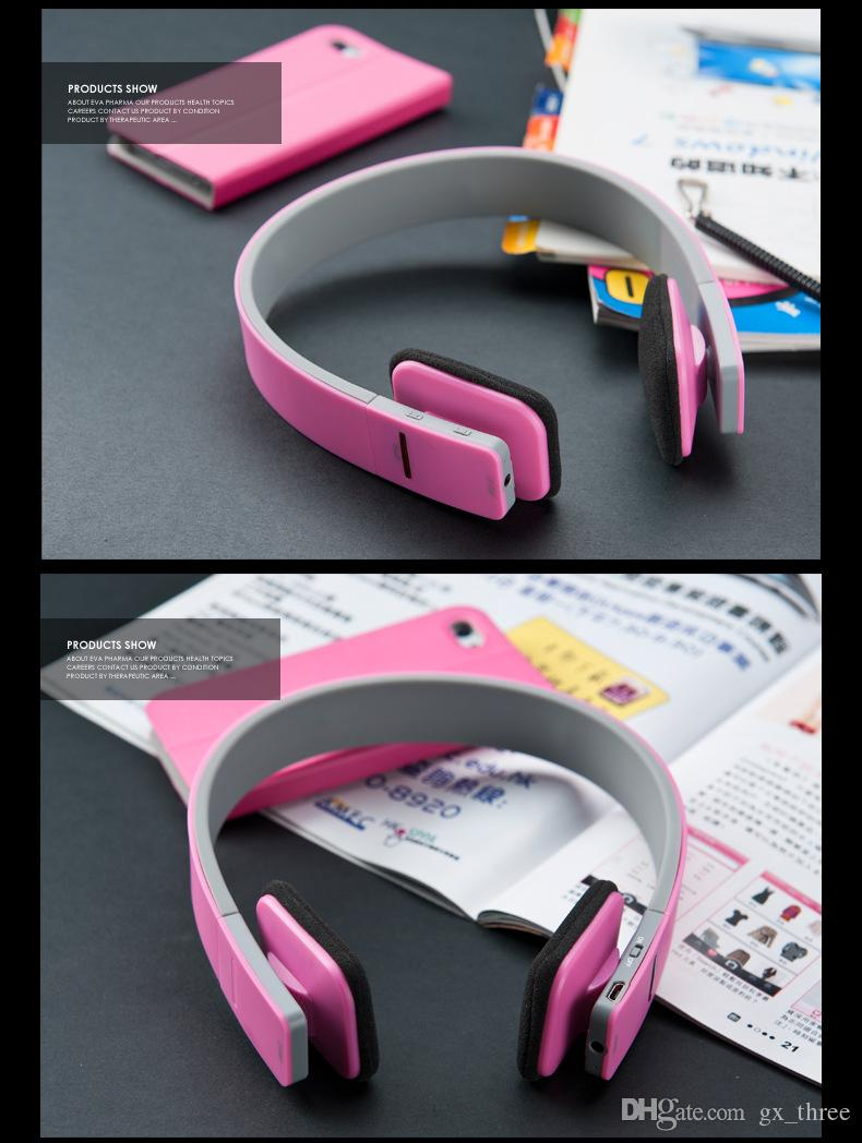 최고의 품질 블루투스 무선 헤드폰 V4.1 착용 입체 음향 이어폰 핸디 넥 밴드 스포츠 헤드셋 하드 소매 패키지