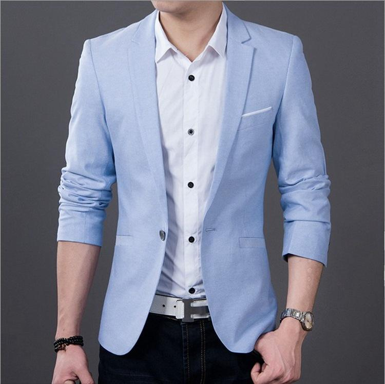 4b06811a24b1 Wholesale- blazer men singers Fashion plaid dress suit jacket brand clothing  Men's casual suits Korean Slim small Western singers dress
