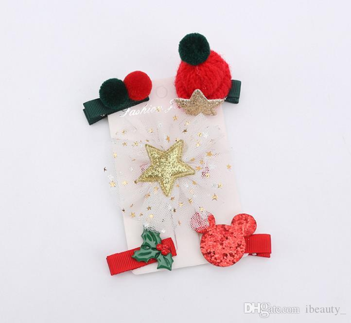 New Fashion Christmas Hair Clips for Girls Santa Claus Xmas Hairpins Barrettes Gifts for Kids Children Hair Accessories