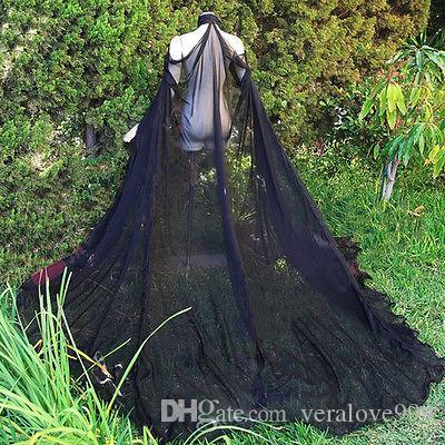 Elegante Hochzeits-Jacke Custom Made Braut Warps Cape aus der Schulter Sommer Chiffon High Neck Hochzeit Bolero Mantel Zubehör Abendmantel