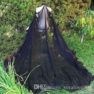 Elegante Jaqueta De Casamento Custom Made Nupcial De Noiva Capuz Fora Do Ombro Verão Chiffon Alta Pescoço Bolero Casaco De Noite Acessório Casaco De Noite
