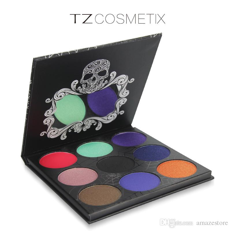 New TZ Cosmetix Twilight 9 Colors Eyeshadow Palette Matte Shimmer Diamond Foiled Colors Brand eye shades Free Shipping