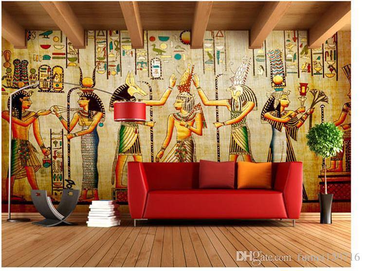 도매 - 벽화 - 차원 배경 화면 홈 장식 사진 배경 벽지 고대 이집트 문명 마야 장로 호텔 대형 벽 미술 벽화