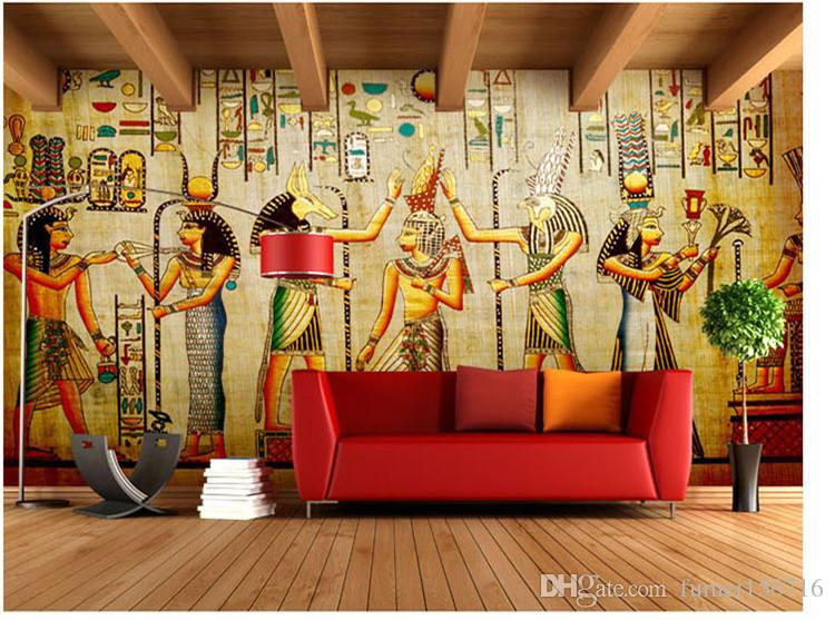 Wholesale-murals-3d wallpapers home decor Photo background wallpaper Ancient Egyptian civilization Mayan elders hotel large wall art mural