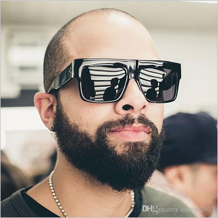 ae5b191f738 HOt Square Black Sunglasses Men UV400 Lens Cool Sun Glasses For Men ...