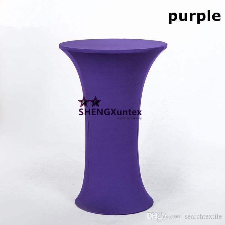 Extra Large Round Table Cloth.Round Base Spandex Cocktail Table Cover Free Shipping