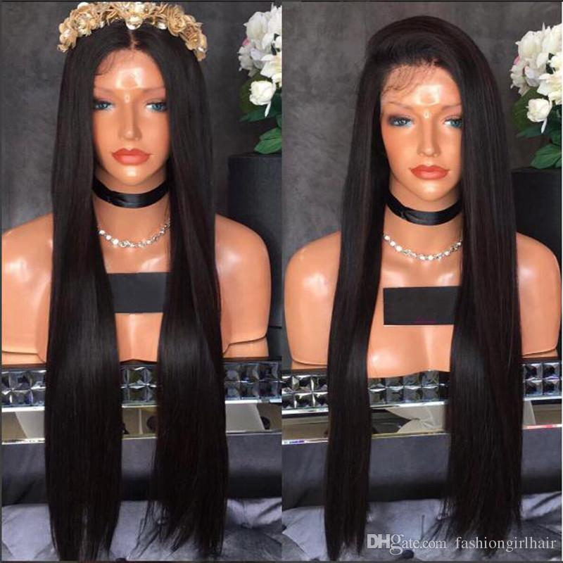 Cheap Synthetic Lace Front Wigs with Baby Hair High Quality Lace Front Synthetic Wigs for Black Women straight Wig