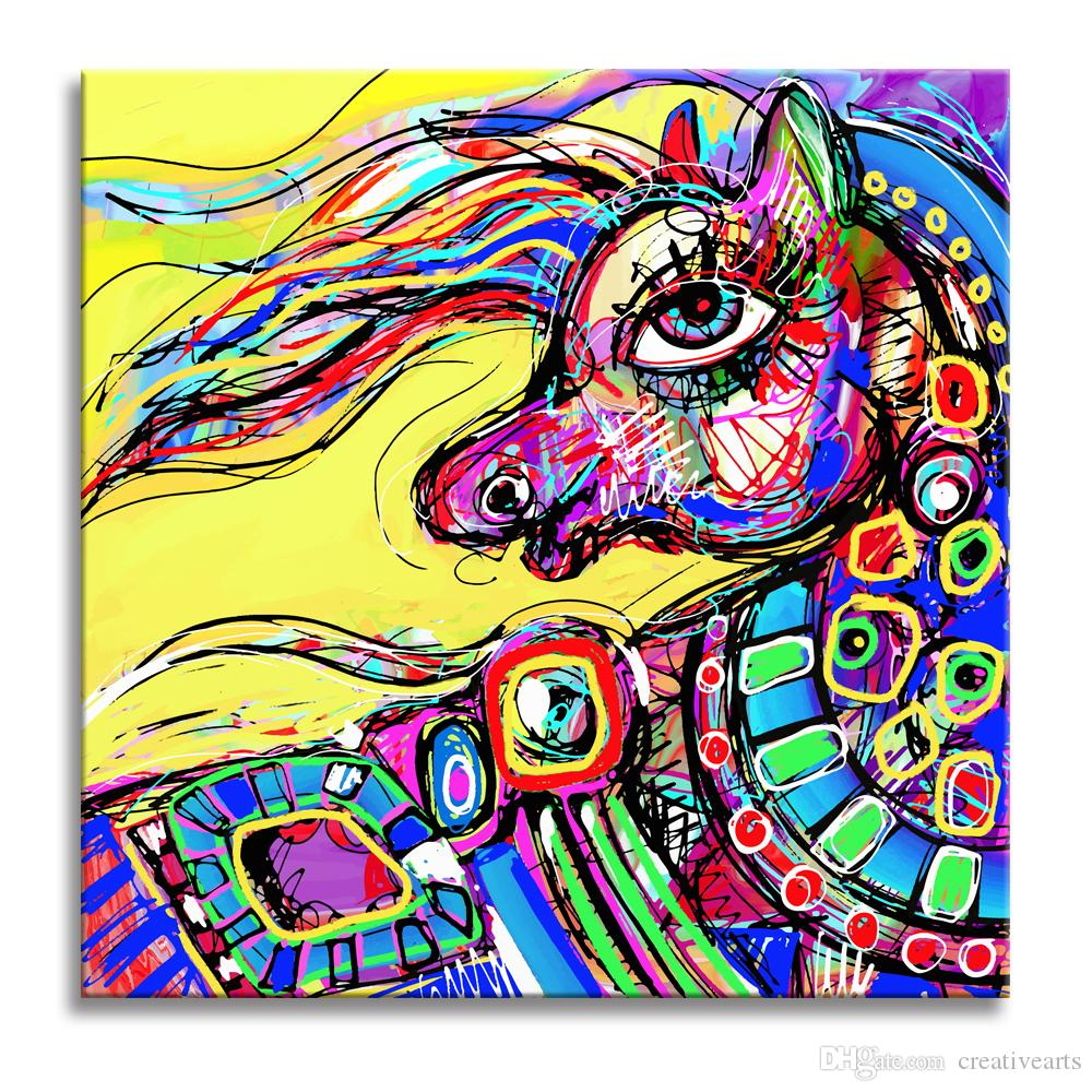 2018 hd unicorn painting prints kids room decoration modern canvas prints for your baby room diy canvas printing unframed50x50cm from creativearts - Prints For Kids