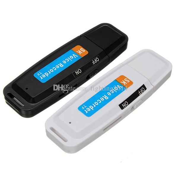 Disco USB Grabadora de Voz y Audio K1 Protable MINI Unidad Flash USB Dictáfono Soporte para lápiz Tarjeta TF Batería recargable Bolígrafo de grabación
