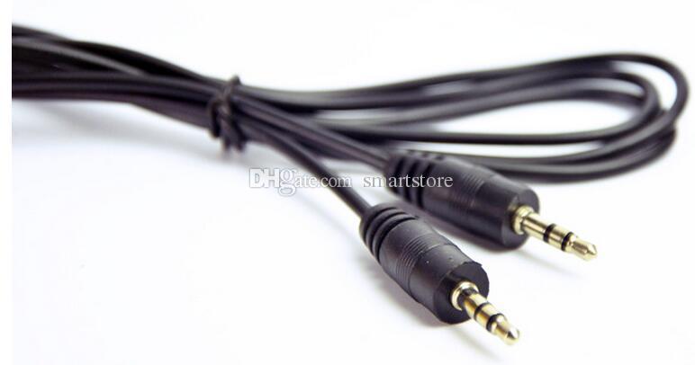 1000 pz Lunghezza 30 cm 3,5 mm Placcato oro Stereo Plug Maschio a maschio Cavo audio 1ft PC Speaker MP3 AUX TV collegare la linea 0001