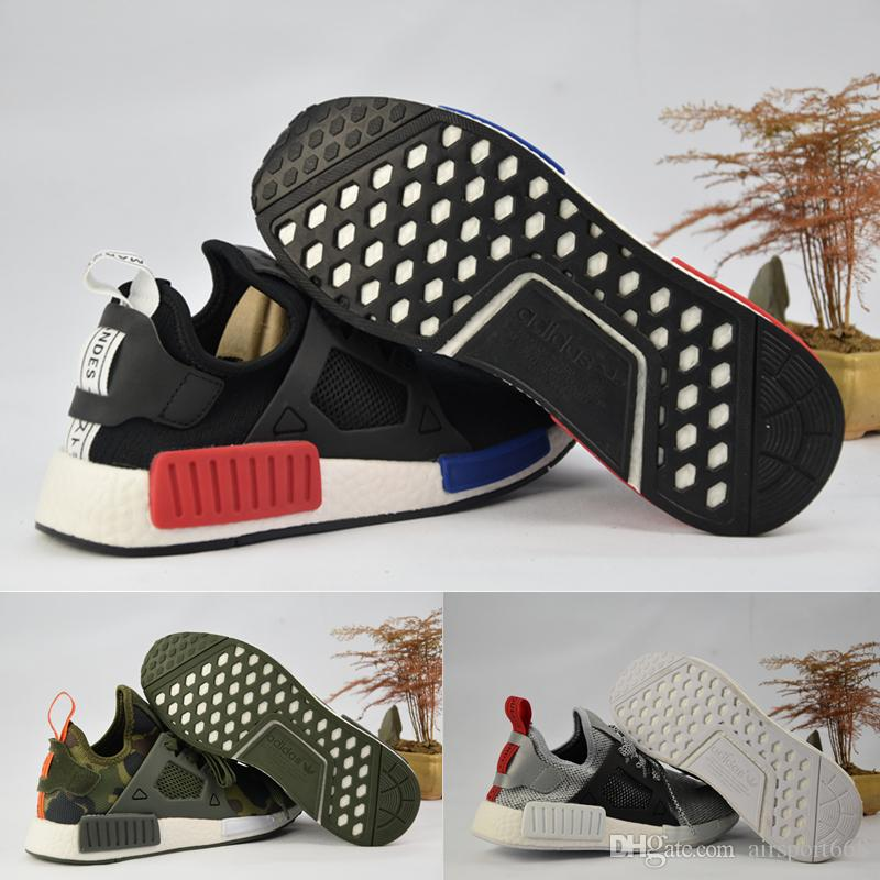 2017 Adidas Nmd Runner R1 Primeknit White Red Blue Nmd Runner Sports Shoes  Men Woman Nmd Shoes Boost Running Shoes Eur 36 45 Neutral Running Shoes  Winter ...