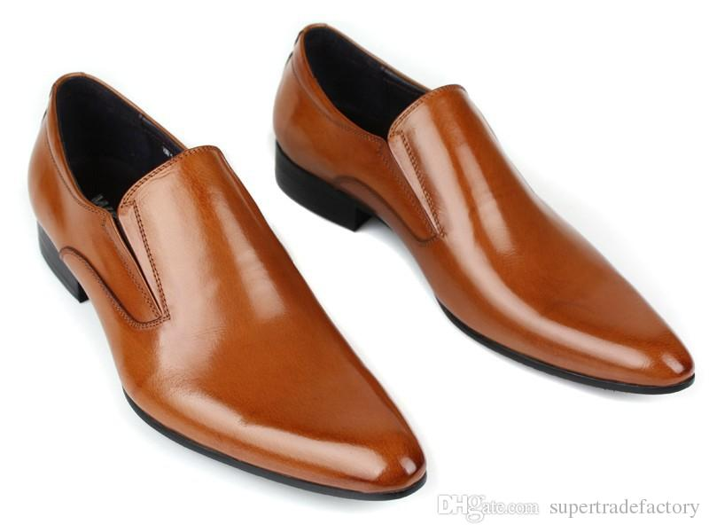 Black Brown Tan Brown Pointed Toe Formal Dress Shoes Mens