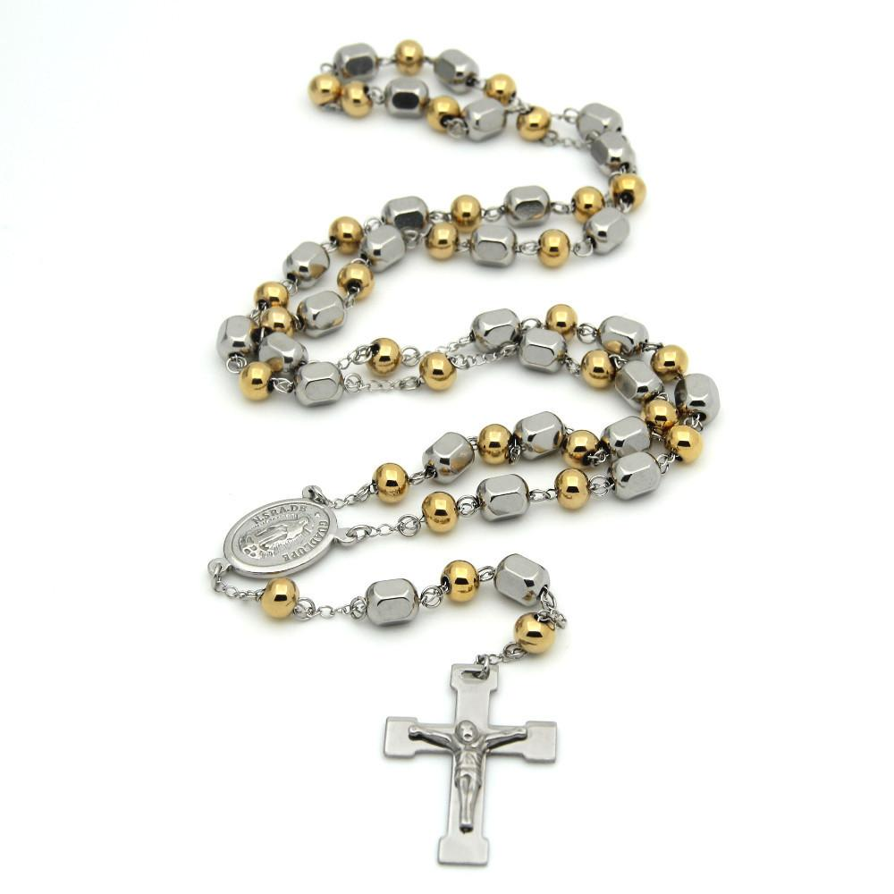 Wholesale 2017 hot mens rosary pendant necklace cross necklace wholesale 2017 hot mens rosary pendant necklace cross necklace charms gold titanium steel ball chain beckham for men fashion jewelry diamond heart necklace aloadofball Gallery