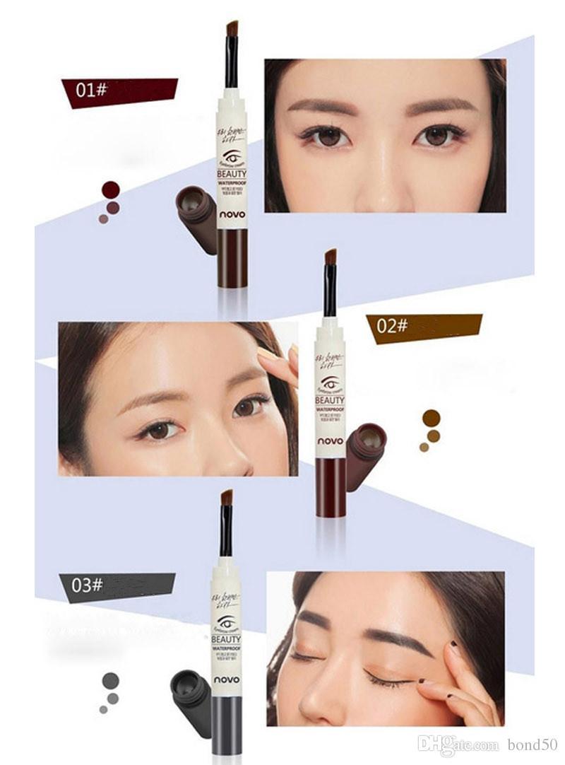 NOVO marca i crema sopracciglio mascara gel make up impermeabile sopracciglio gel durata a lungo trucco pen enhancer con pennello 5068